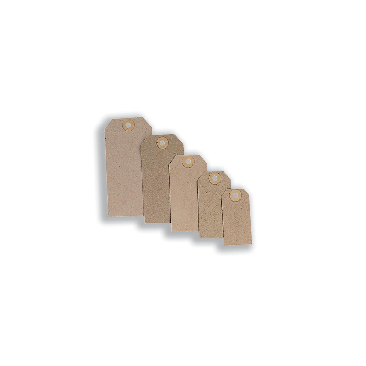 Tag Label Unstrung 70x35mm Buff Pack 1000