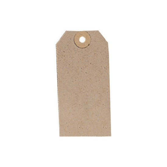 Tags Tag Label Unstrung 108x54mm Buff Pack 1000