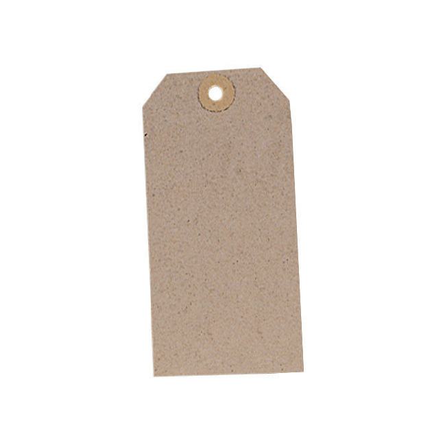 Tag Label Unstrung 120x60mm Buff Pack 1000