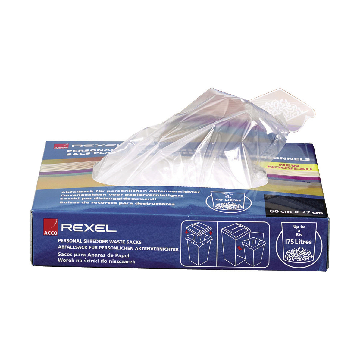 Bags / Sacks Rexel Shredder Waste Sacks 115 Litres Ref 40070 Pack 100