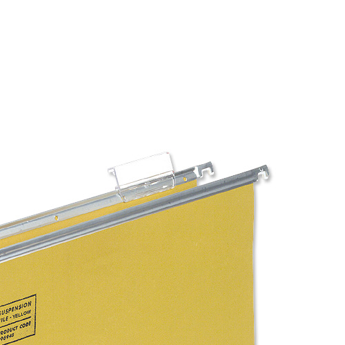 Tabs 5 Star Office Plastic Tabs for Suspension File Clear Pack 50