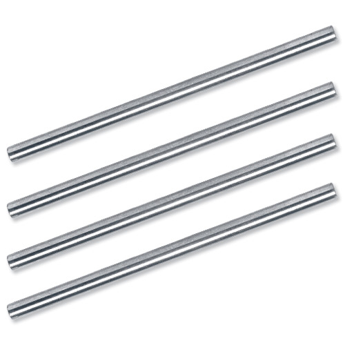 5 Star Office Risers for Letter Tray Chrome Plated 115mm Pack 4