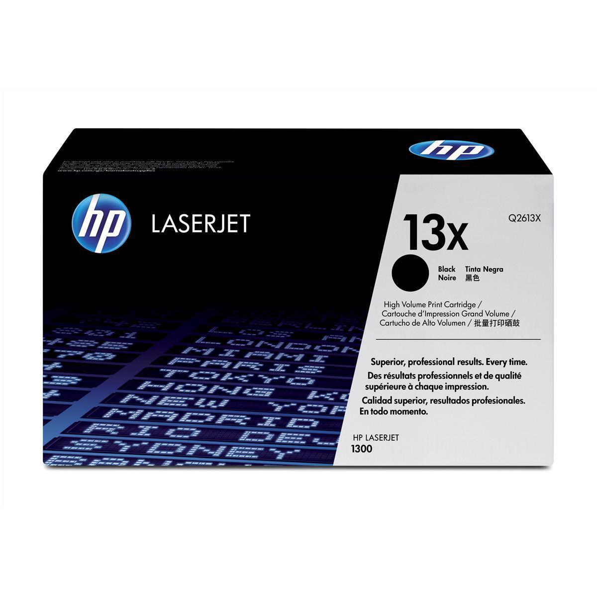 HP 13X Laser Toner Cartridge High Yield Page Life 4000pp Black Ref Q2613X