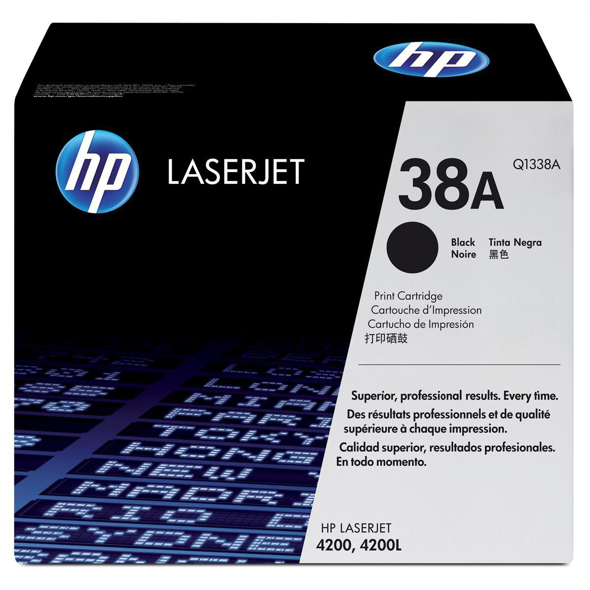 Hewlett Packard [HP] No. 38A Laser Toner Cartridge Page Life 12000pp Black Ref Q1338A