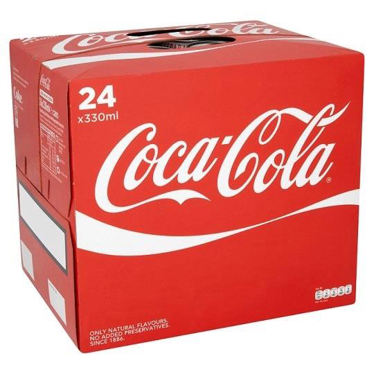 Coca Cola Coke Soft Drink Can 330ml Ref N000954 Pack 24