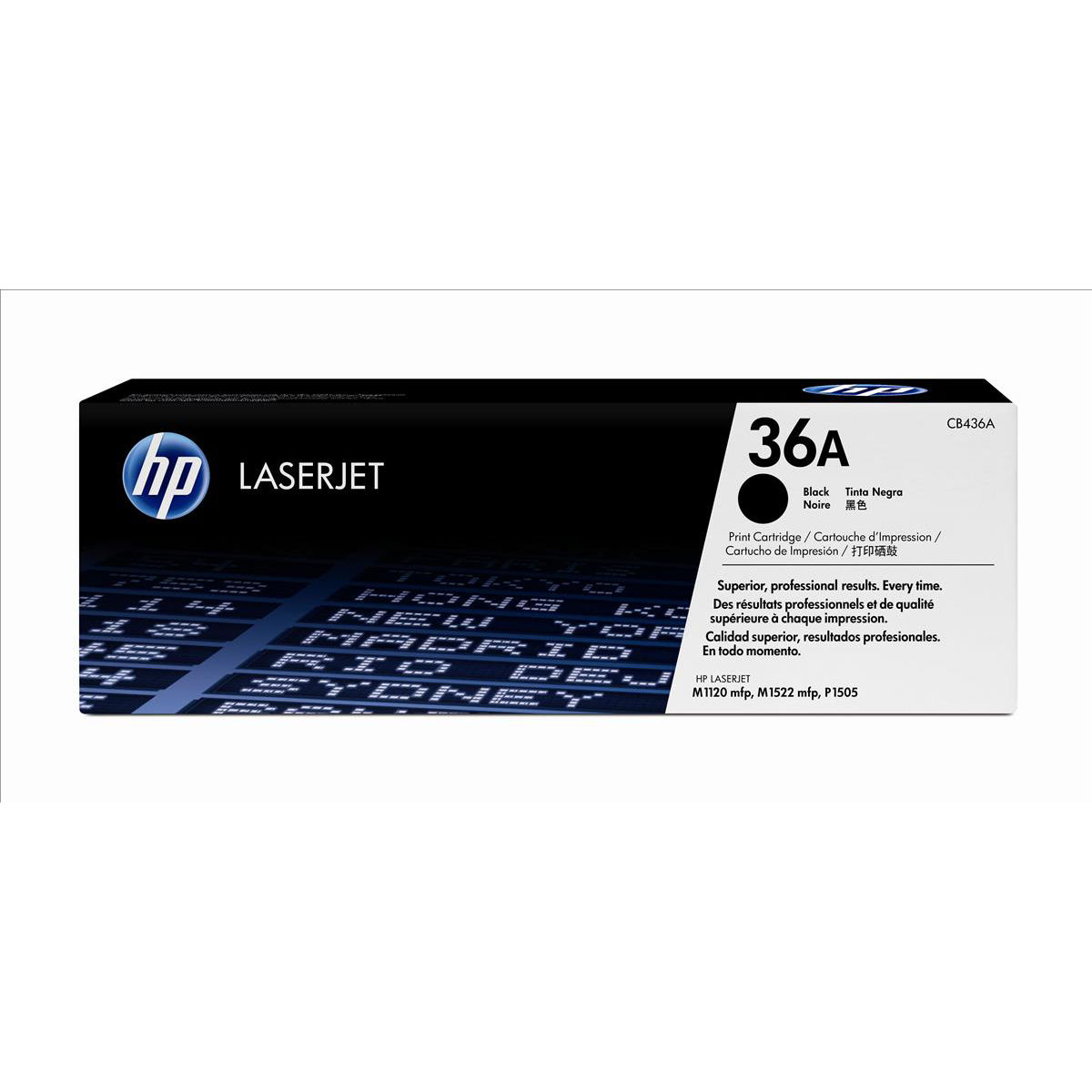 HP 36A Laser Toner Cartridge Page Life 2000pp Black Ref CB436AD Pack 2