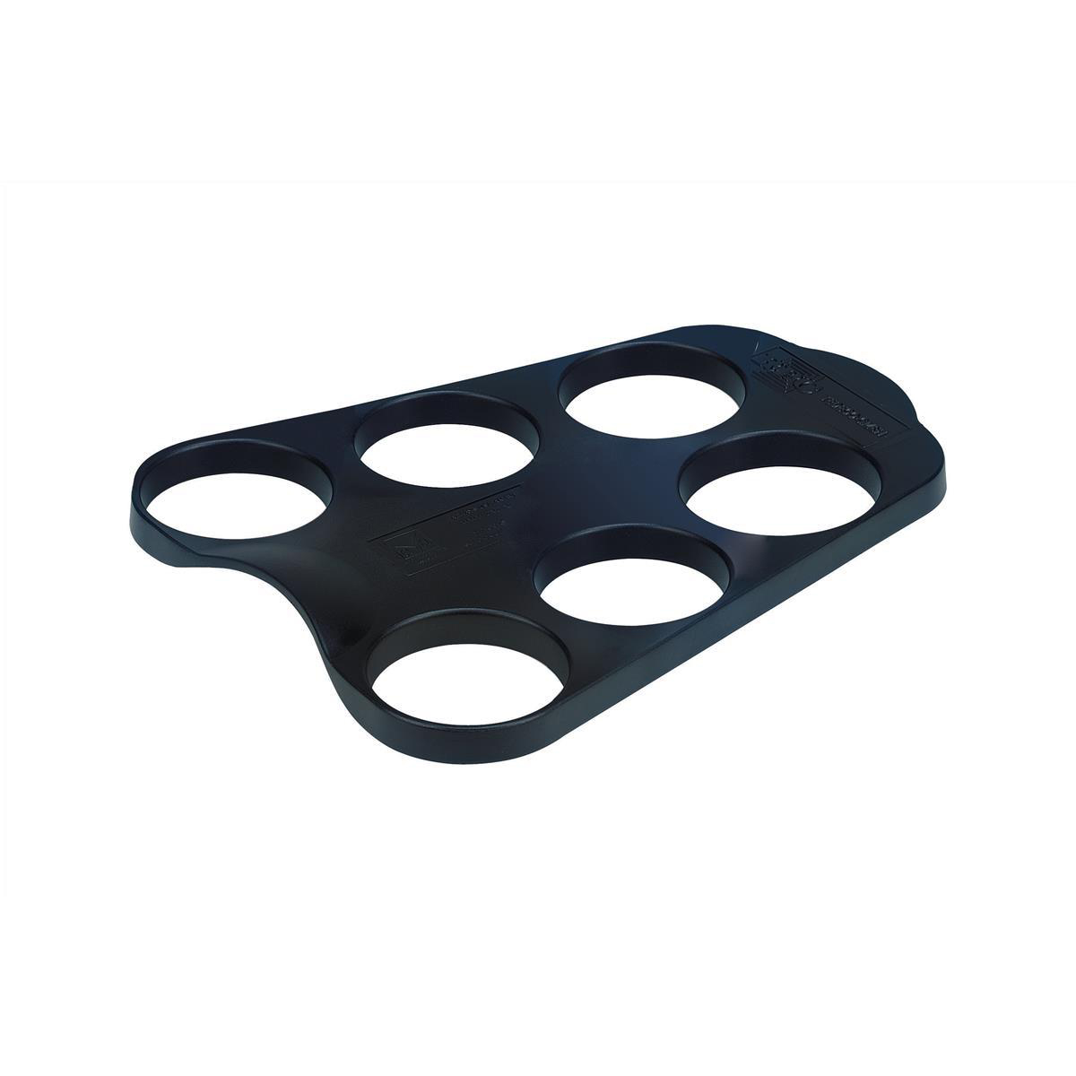 Cup Carry Tray Capacity 6 of 207ml or 266ml Cups PS Black [Pack 10]