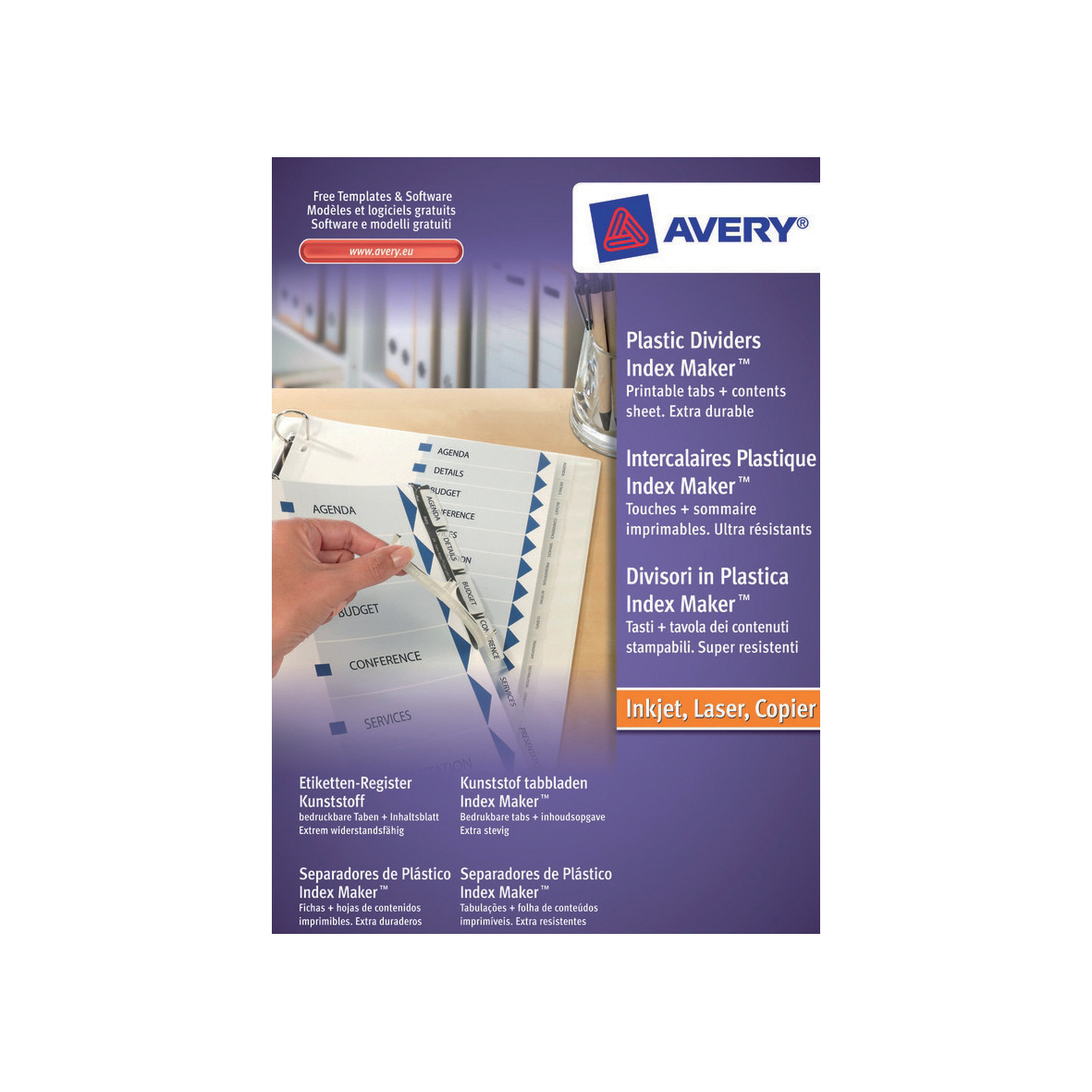 Avery IndexMaker Divider Set Polypropylene A4 5-Part Clear Ref 05111081 L7410-5M