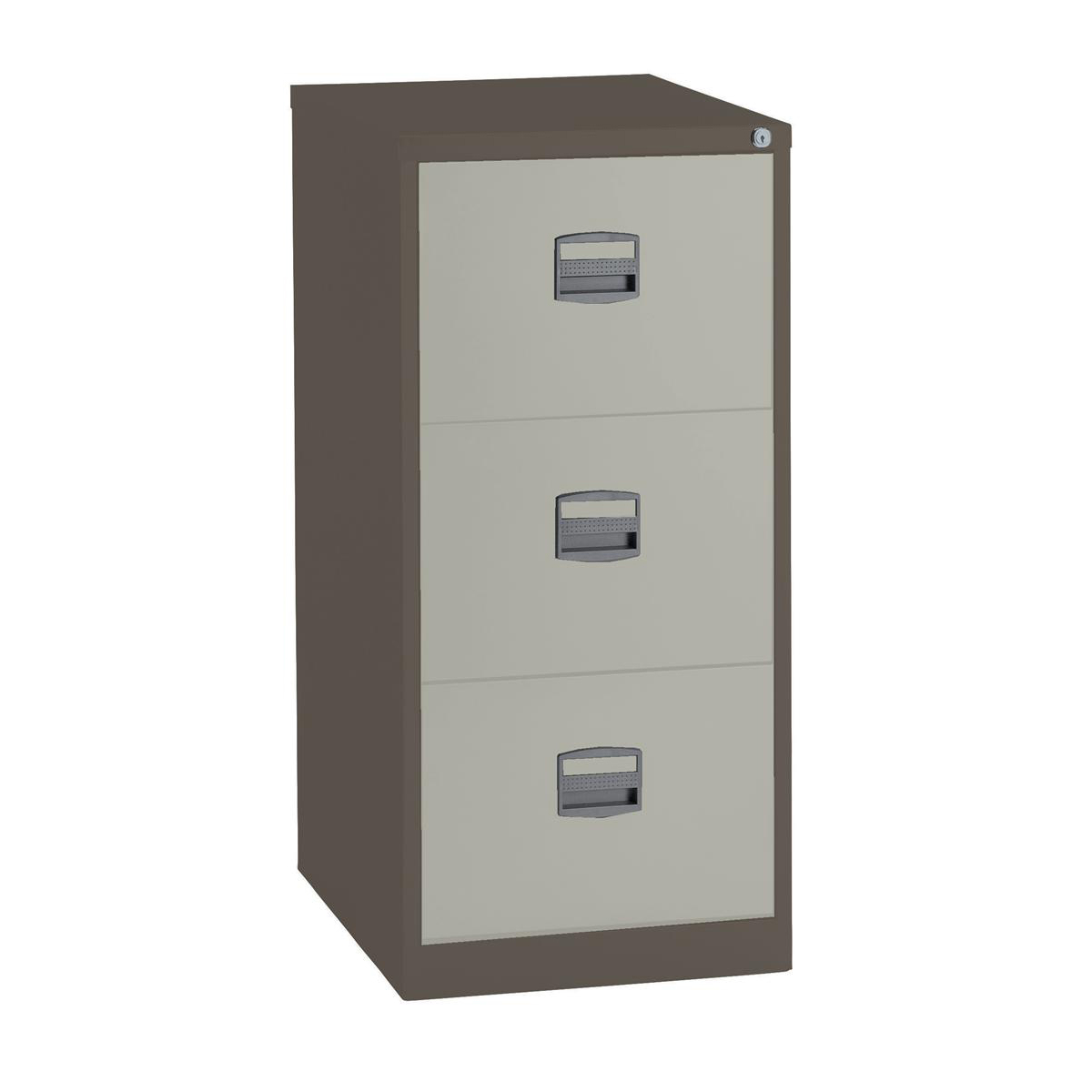 Trexus 3 Drawer Filing Cabinet 470x622x1016mm Coffee/​Cream Ref 515538