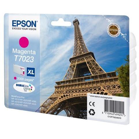 Epson T7023 Inkjet Cartridge Eiffel Tower XL Page Life 2000pp 21.3ml Magenta Ref C13T70234010