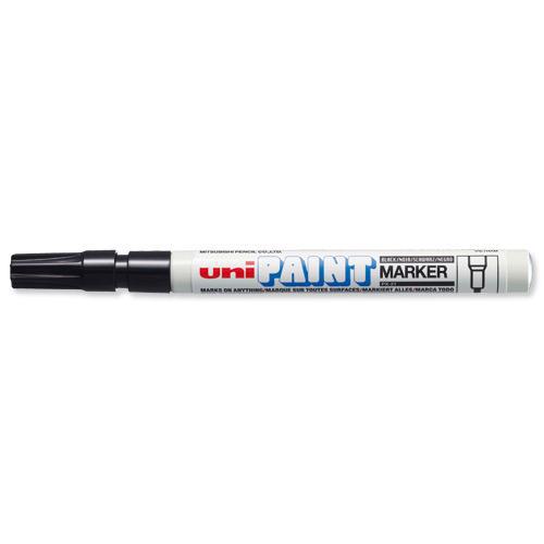 Uni Paint Marker Bullet Tip Fine Point PX21 Line Width 1.2mm Black Ref 558726000 [Pack 12]