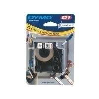Dymo D1 Tape for Labelmaker Nylon Flexible 12mmx3.5m Black on White Ref 16957 S0718040