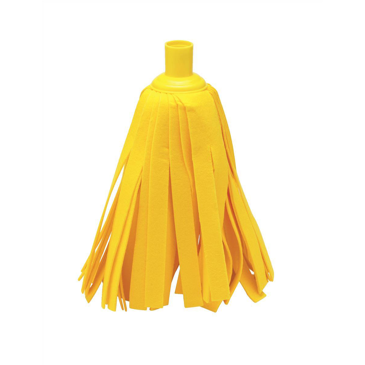Mop heads Addis Cloth Mop Head Refill Thick Absorbent Strands and Yellow Socket Ref 510525