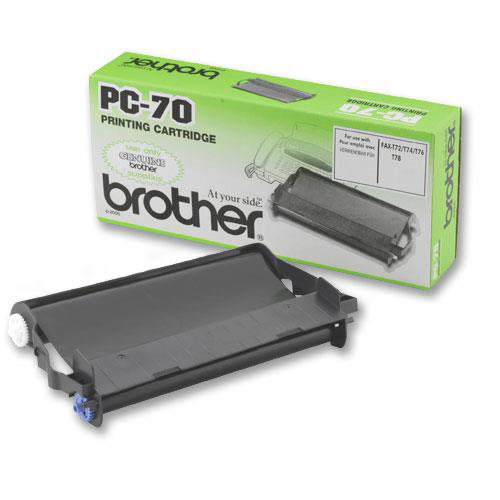 Fax accessories Brother Fax Cassette Page Life 144pp Black Ref PC70