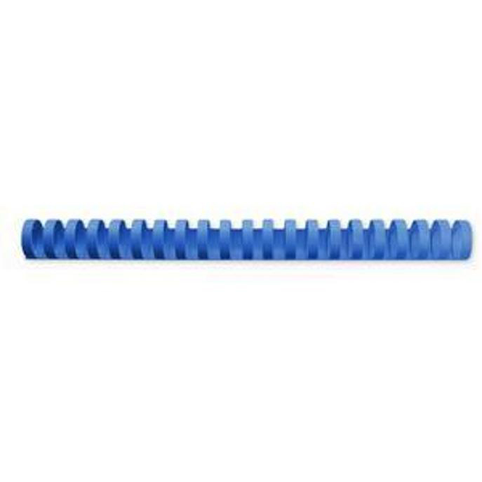 GBC Binding Combs Plastic 21 Ring 165 Sheets A4 19mm Blue Ref 4028621 Pack 100