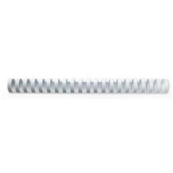 GBC Binding Combs Plastic 21 Ring 165 Sheets A4 19mm White Ref 4028611 [Pack 100]