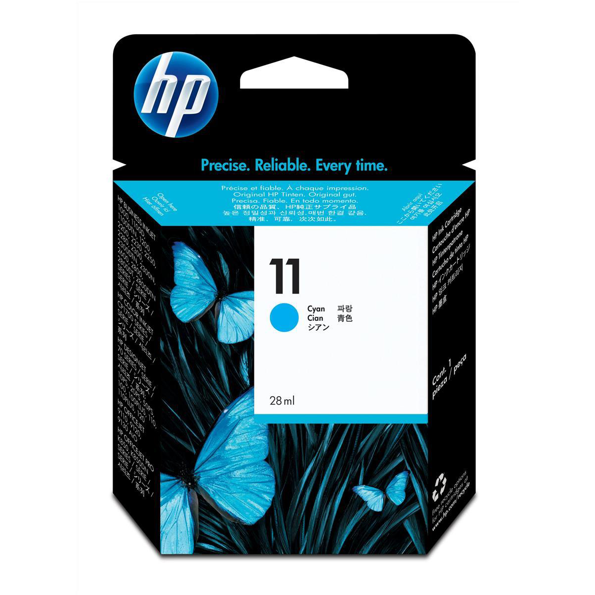 Hewlett Packard HP No.11 Inkjet Cartridge Page Life 2350pp 28ml Cyan Ref C4836A
