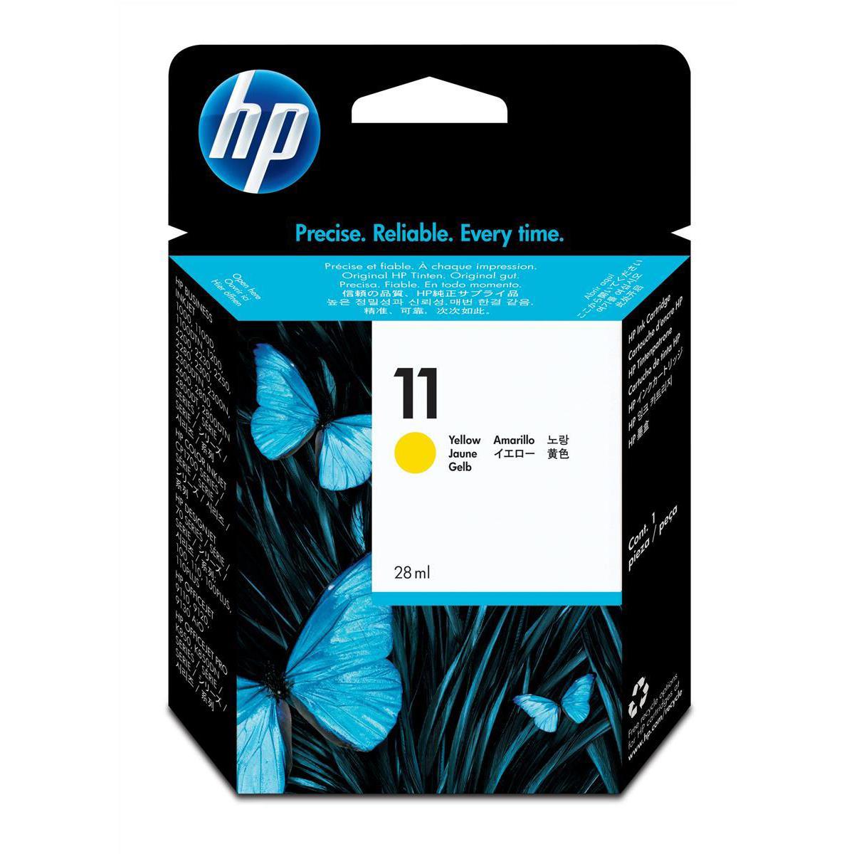 Hewlett Packard [HP] No.11 Inkjet Cartridge Page Life 2350pp 28ml Yellow Ref C4838A