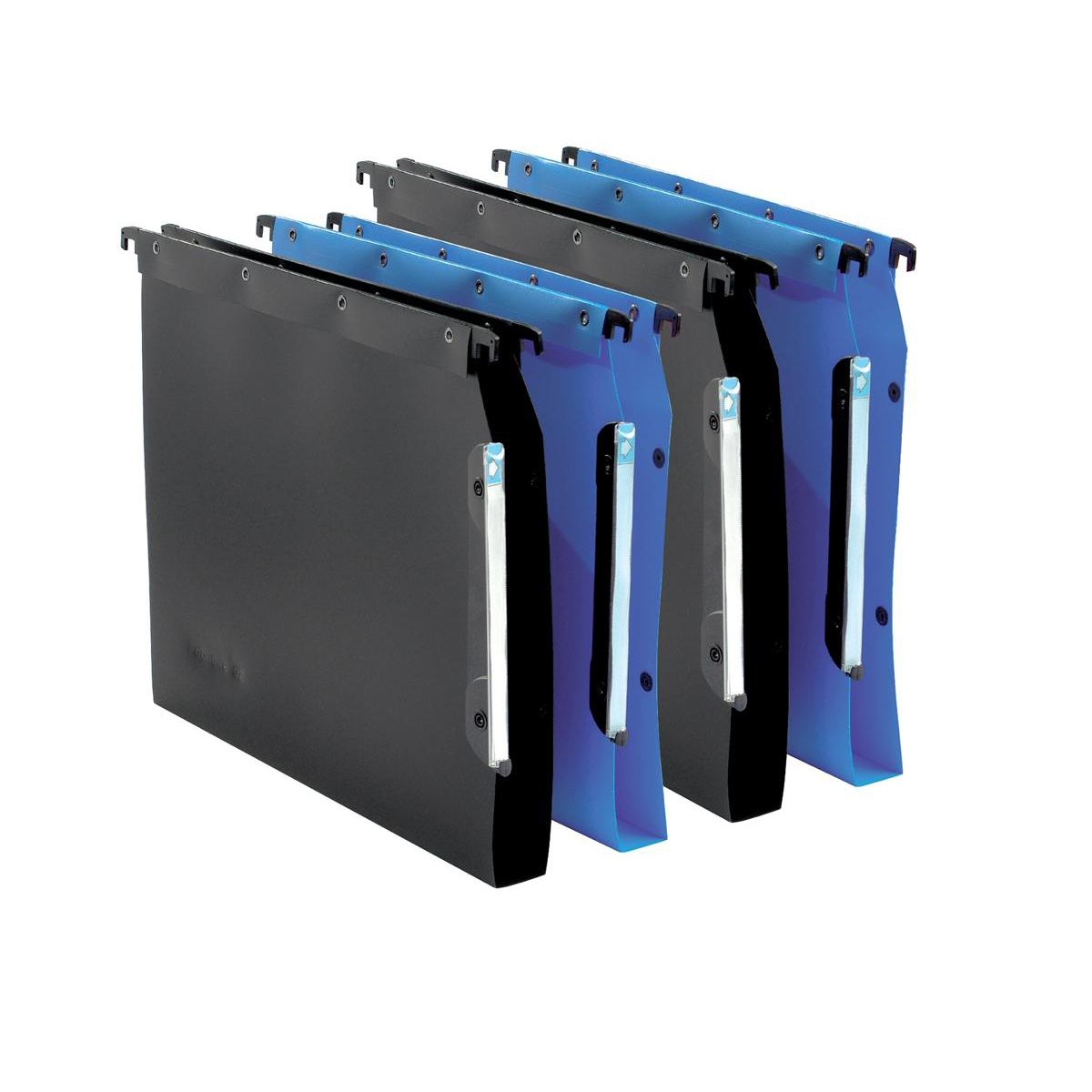 Elba Ultimate Polypro Linking Lateral File Polypropylene 15mm V-base A4 Blue Ref 100330583 [Pack 25]