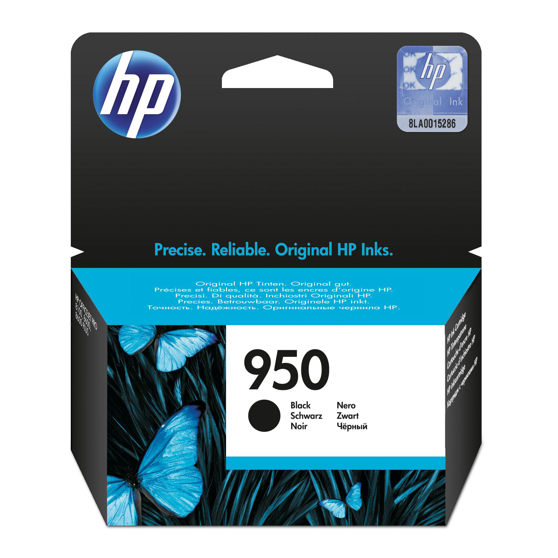Hewlett Packard [HP] No. 950 Inkjet Cartridge Standard Capacity Page Life 1000pp Black Ref CN049AE #BGX
