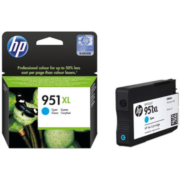 Hewlett Packard [HP] No. 951XL Inkjet Cartridge High Capacity Page Life 1300pp Cyan Ref CN046AE #BGX