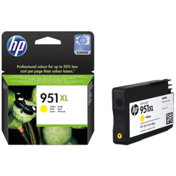 Hewlett Packard [HP] No. 951XL Inkjet Cartridge High Capacity Page Life 1300pp Yellow Ref CN048AE #BGX