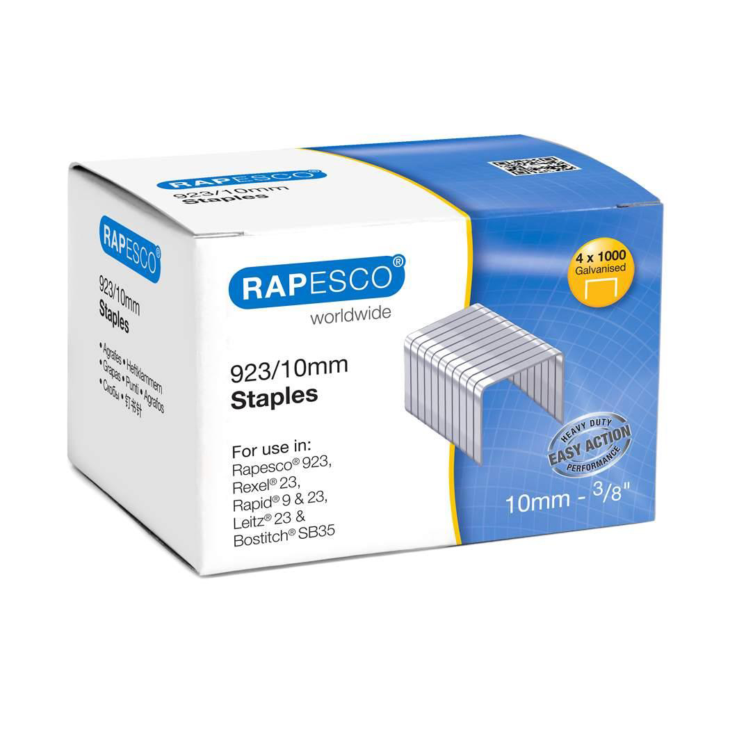 Staples Rapesco Heavy Duty Staples 923/10mm Ref 92310Z3 Box 4000