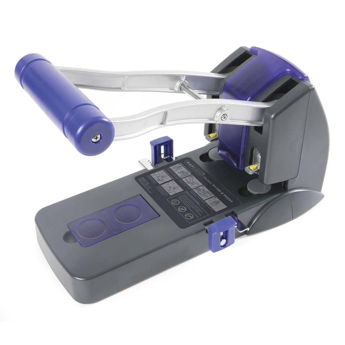 Rapesco 2200 Punch Heavy-duty 2-Hole Capacity 150x 80gsm Black Ref PF220AP1