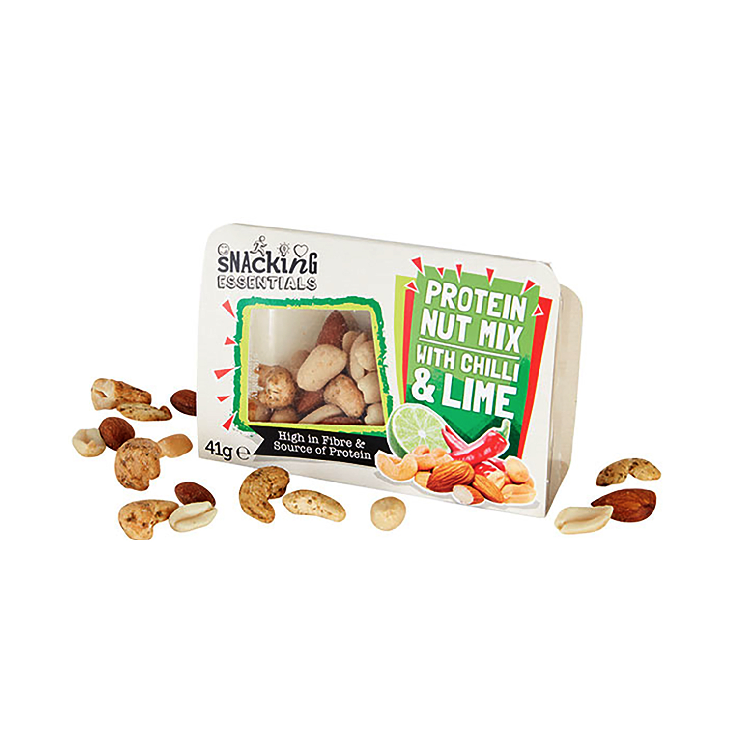 Snacking Essentials Nut Mix Chilli & Lime Snack Pot Ref 512541 Pack 9
