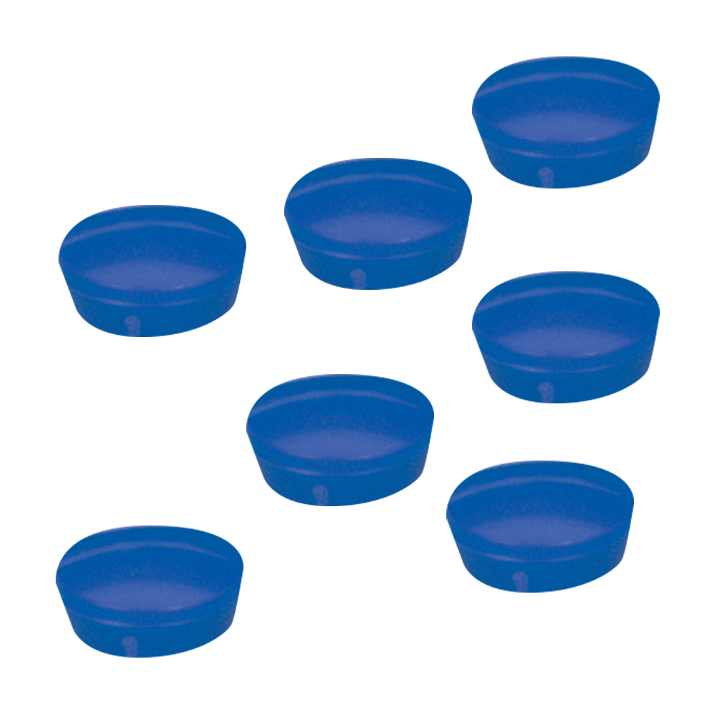 5 Star Office Round Plastic Covered Magnets 20mm Blue Pack 10