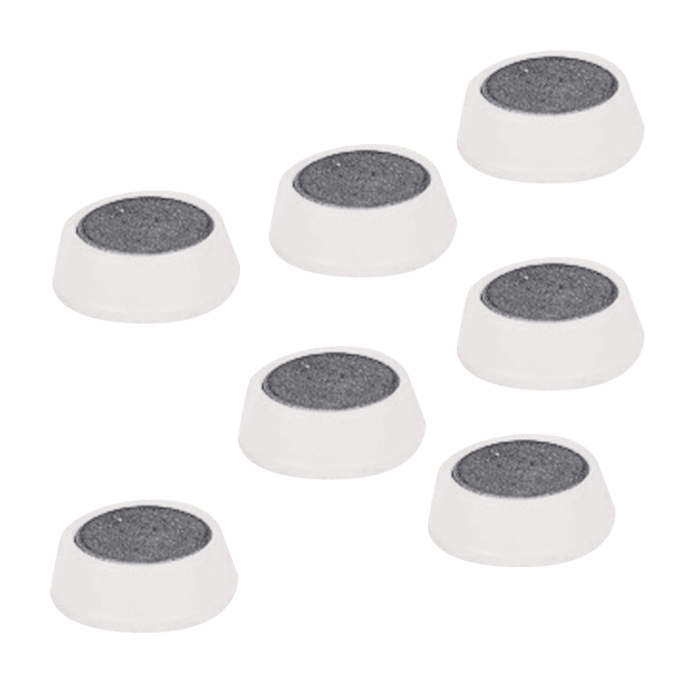 Magnets 5 Star Office Round Plastic Covered Magnets 20mm White Pack 10