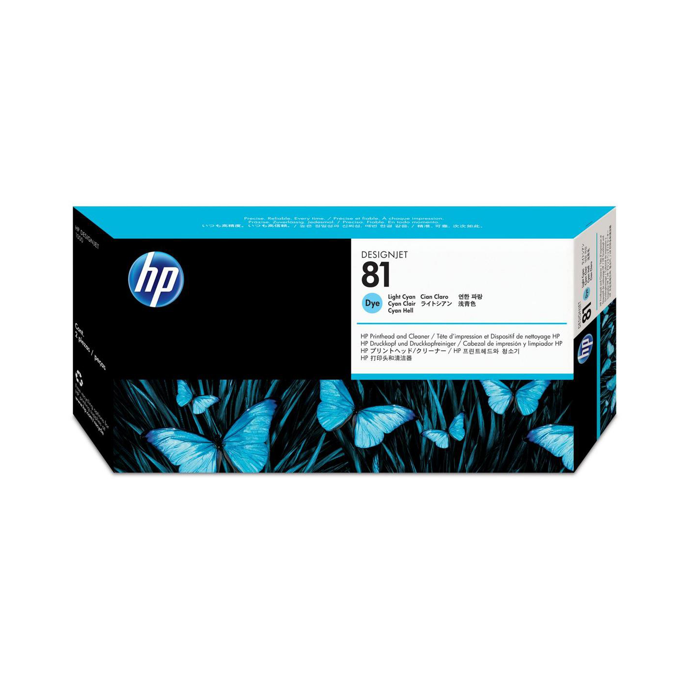 HP 81 Light Cyan Printhead & Printhead Cleaner for 5000 & 5000PS Ref C4954A 3 to 5 Day Leadtime