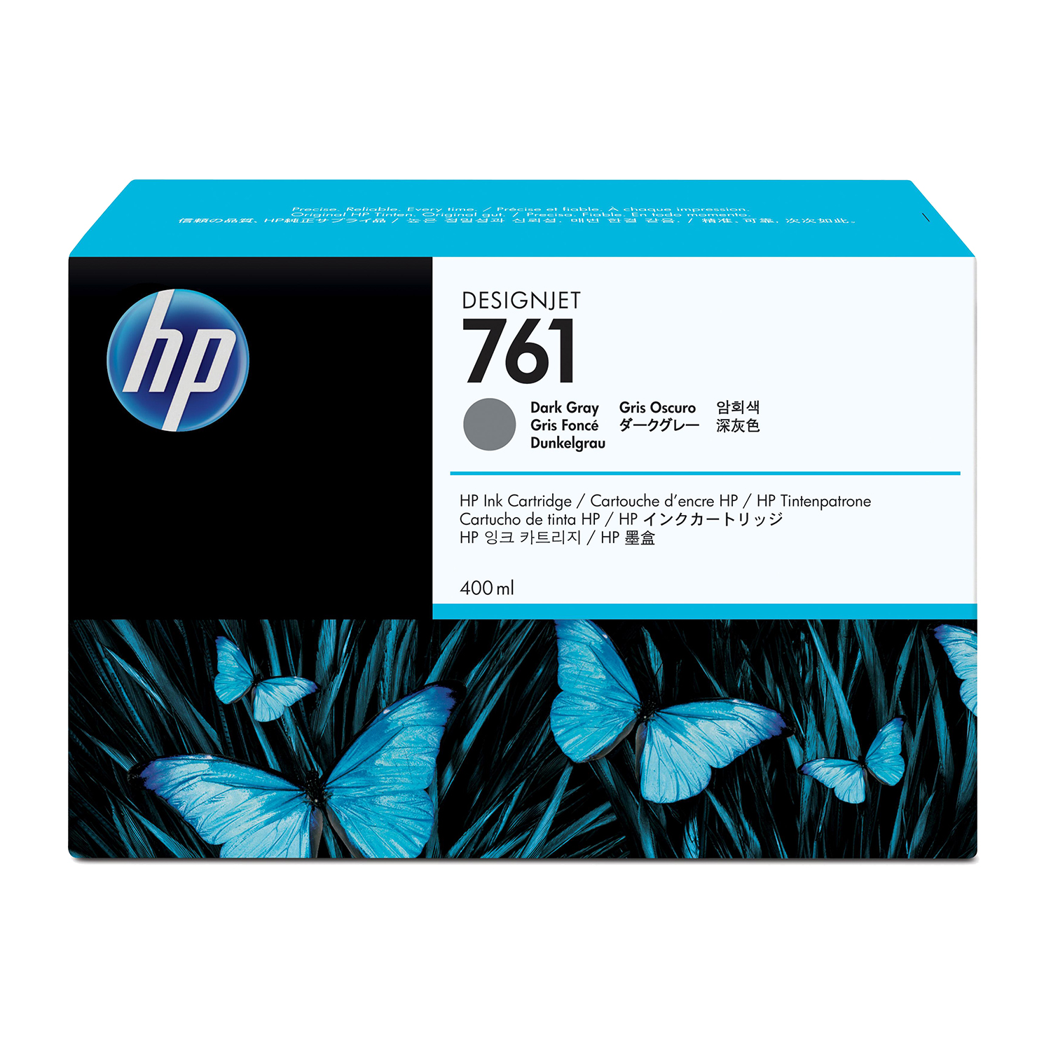 HP 761 Dark Grey Ink Cartridge 400ml for DesignJet T7100 Series Ref CM996A *3 to 5 Day Leadtime*
