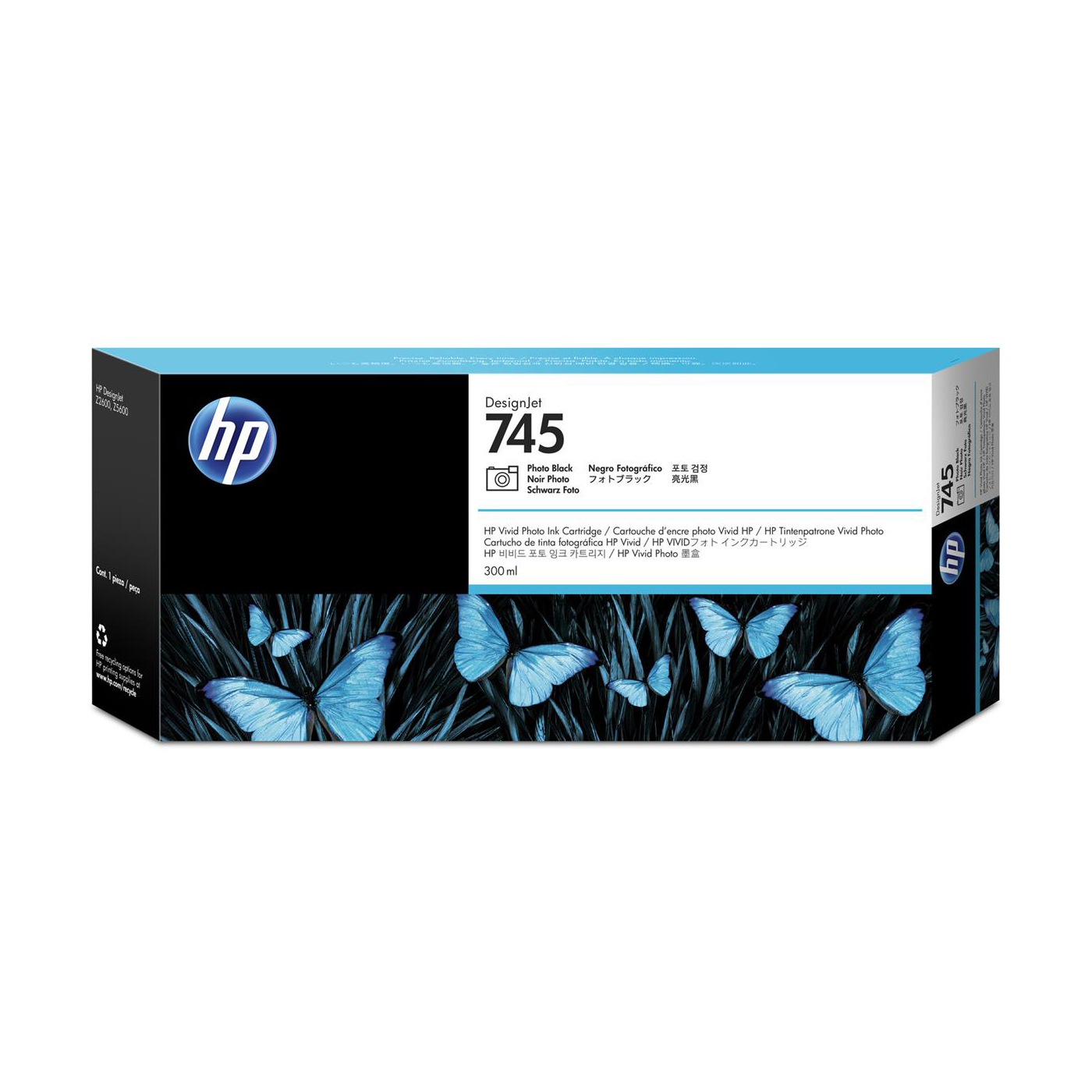 HP 745 300ml DesignJet Photo Black Ink Cartridge F9K04A *3 to 5 Day Leadtime*