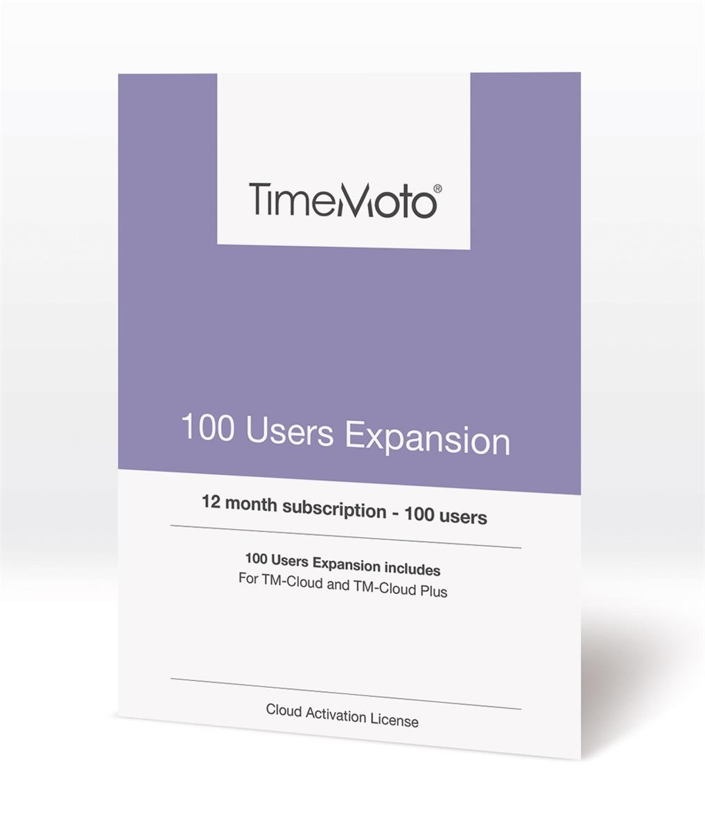 Safescan TimeMoto TM Cloud User Expansion 100 Users Ref 139-0593
