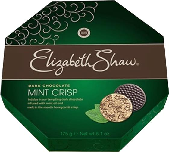Elizabeth Shaw Mint Crisp Chocolates Dark Ref F5202 [Pack 28]