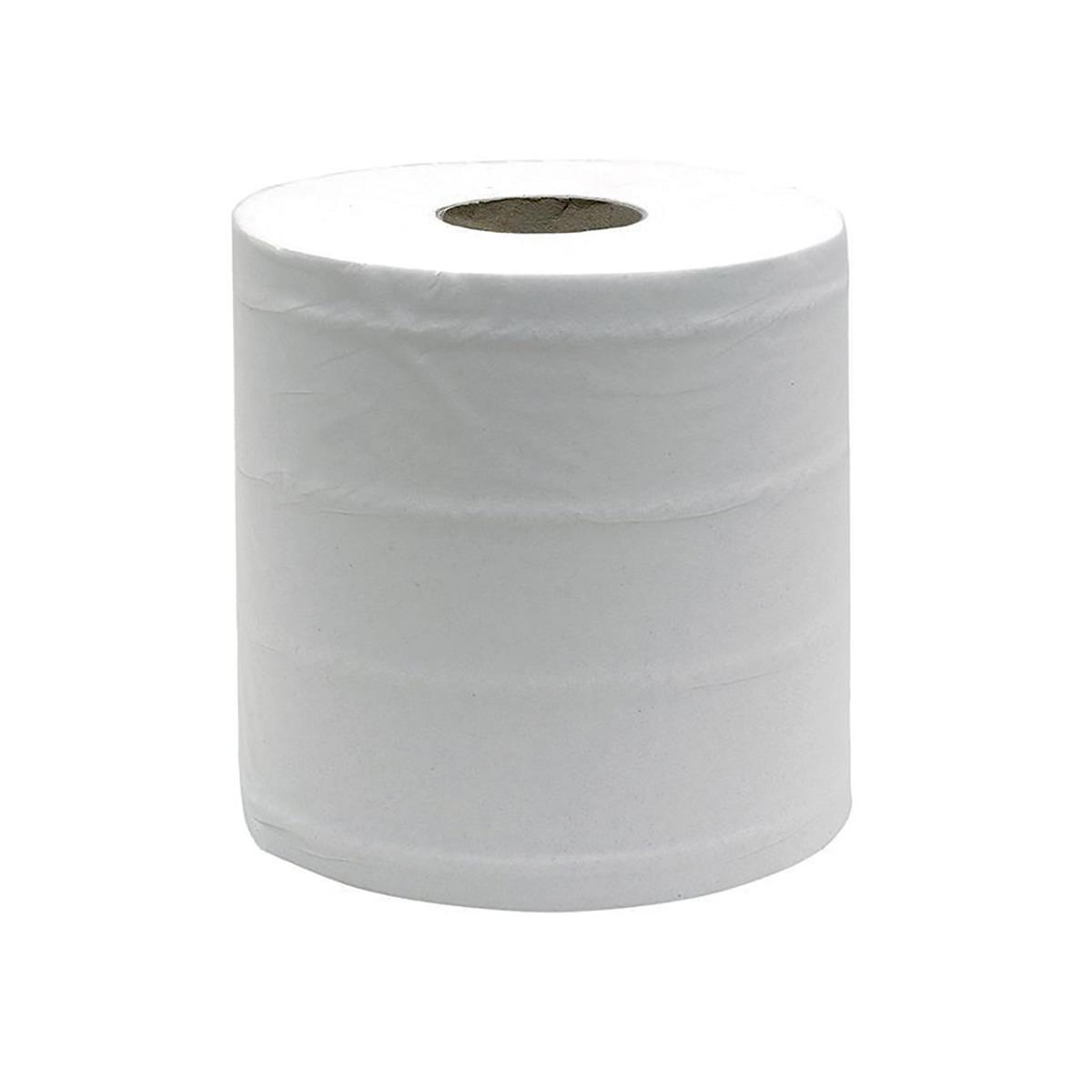 Maxima Centrefeed Roll 3-Ply 114m White Ref 1105185 [Pack 6]