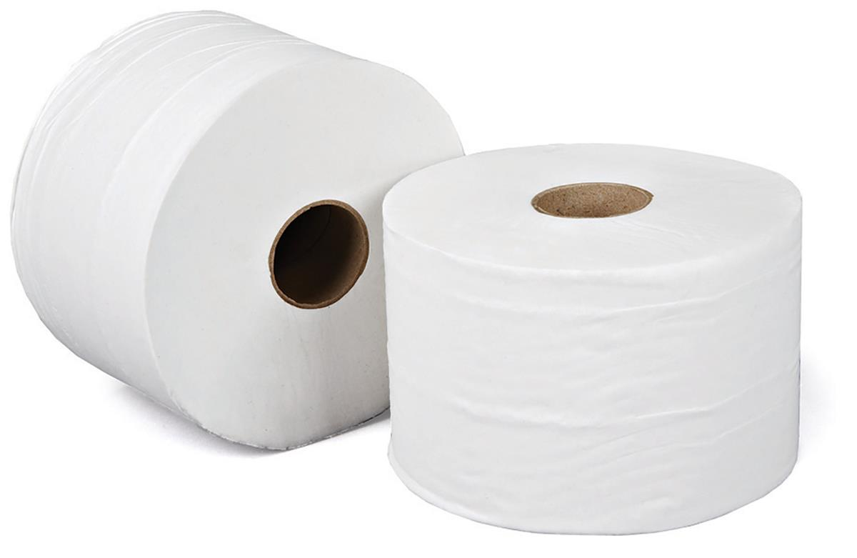 Versatwin Toilet Rolls 1-Ply 180m White [Pack 24]