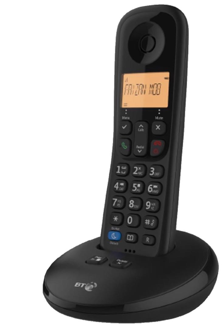 BT Everyday 1 Telephone 50 Contact Caller ID Storage Answer Phone Single Black Ref 90665