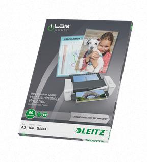 Leitz Laminator Pouch 80 Micron A3 Ref 74860000 [Pack 100]