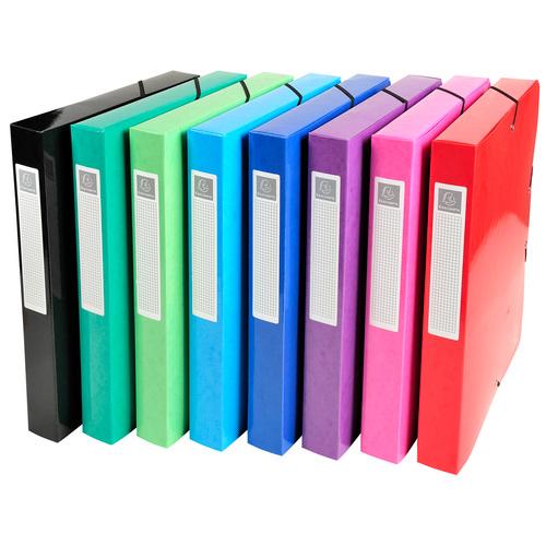 Iderama Elastic Filing Boxes Assorted Ref 59929E [Pack 8]