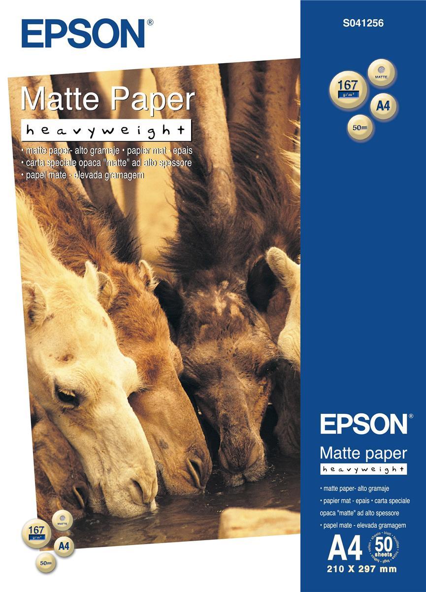 Epson Matte Paper A4 167g PK50 S041256