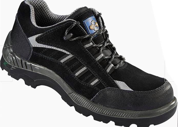 Rockfall ProMan Trainer Suede Fibreglass Toecap Black Size 5 Ref PM4040 5