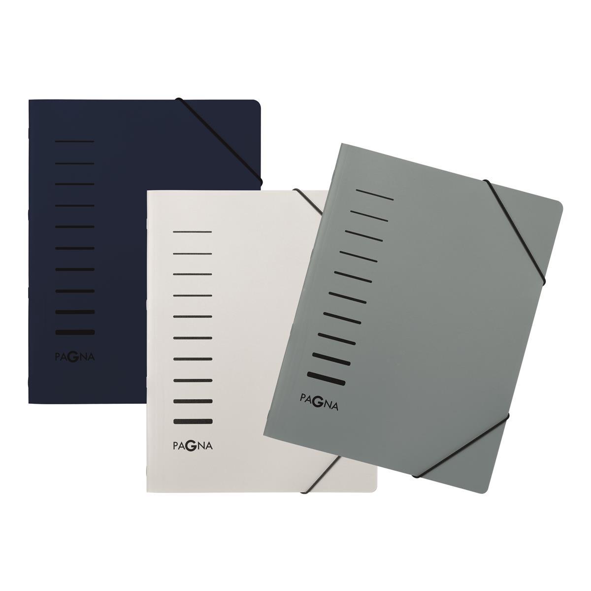Pagna Starter Pack 6 Part File Elastic Corner Straps Polypropylene A4 Assorted Ref 4005500 [Pack 3]