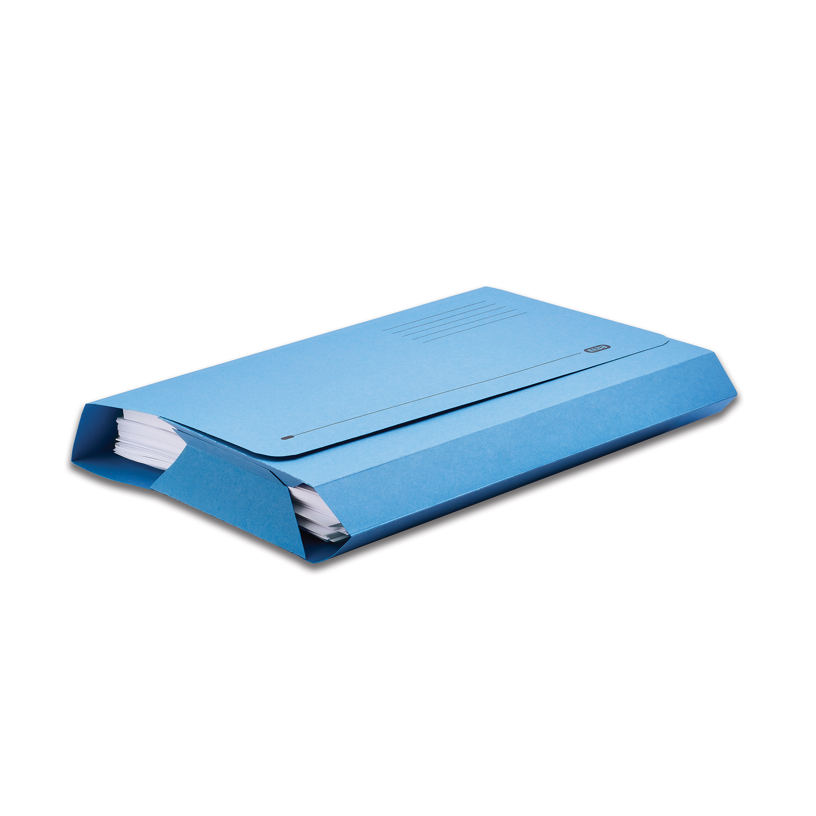 Elba Probate Wallets Full Flap Heavyweight Manilla 285gsm 65mm Foolscap Blue Ref 100090048 Pack 25