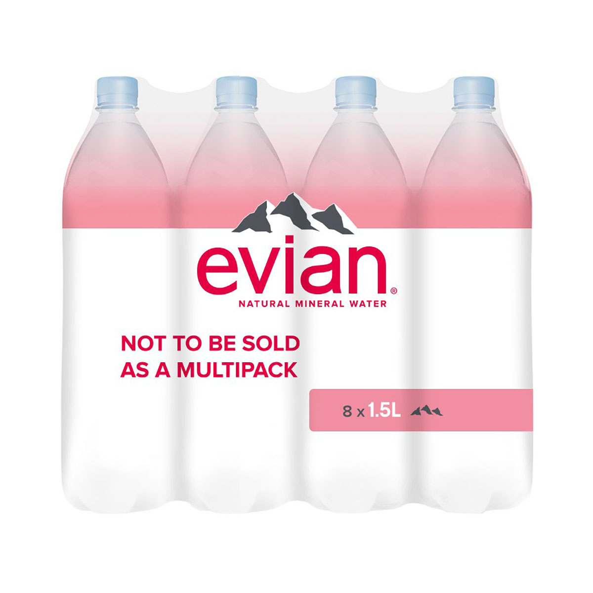 Evian Natural Mineral Water Still Bottle Plastic 1.5 Litre Ref 143136 Pack 8