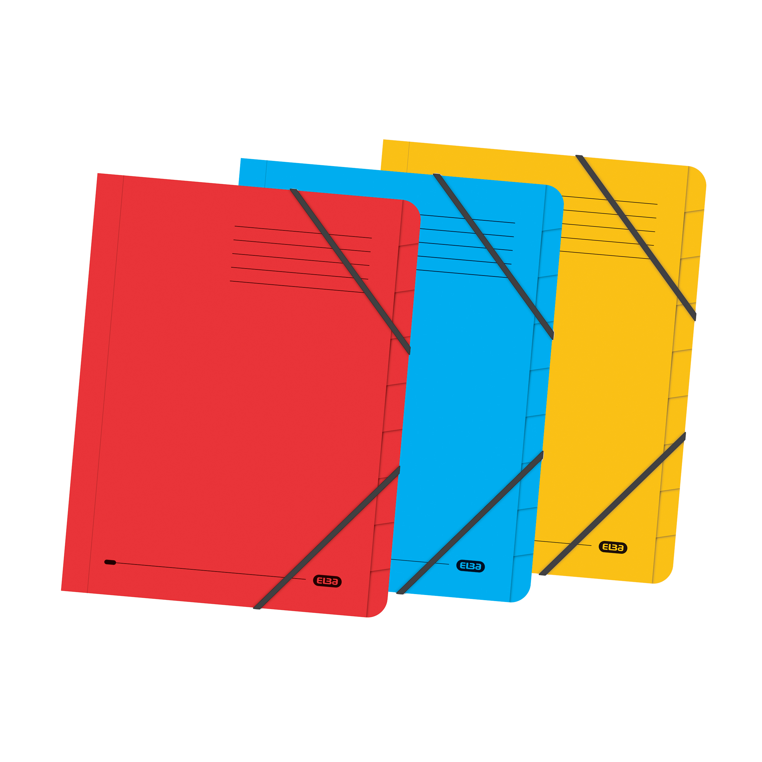 Elba Boston Part File 320gsm Manilla Elasticated 7-Part Foolscap Yellow Ref 100090310 Pack 5
