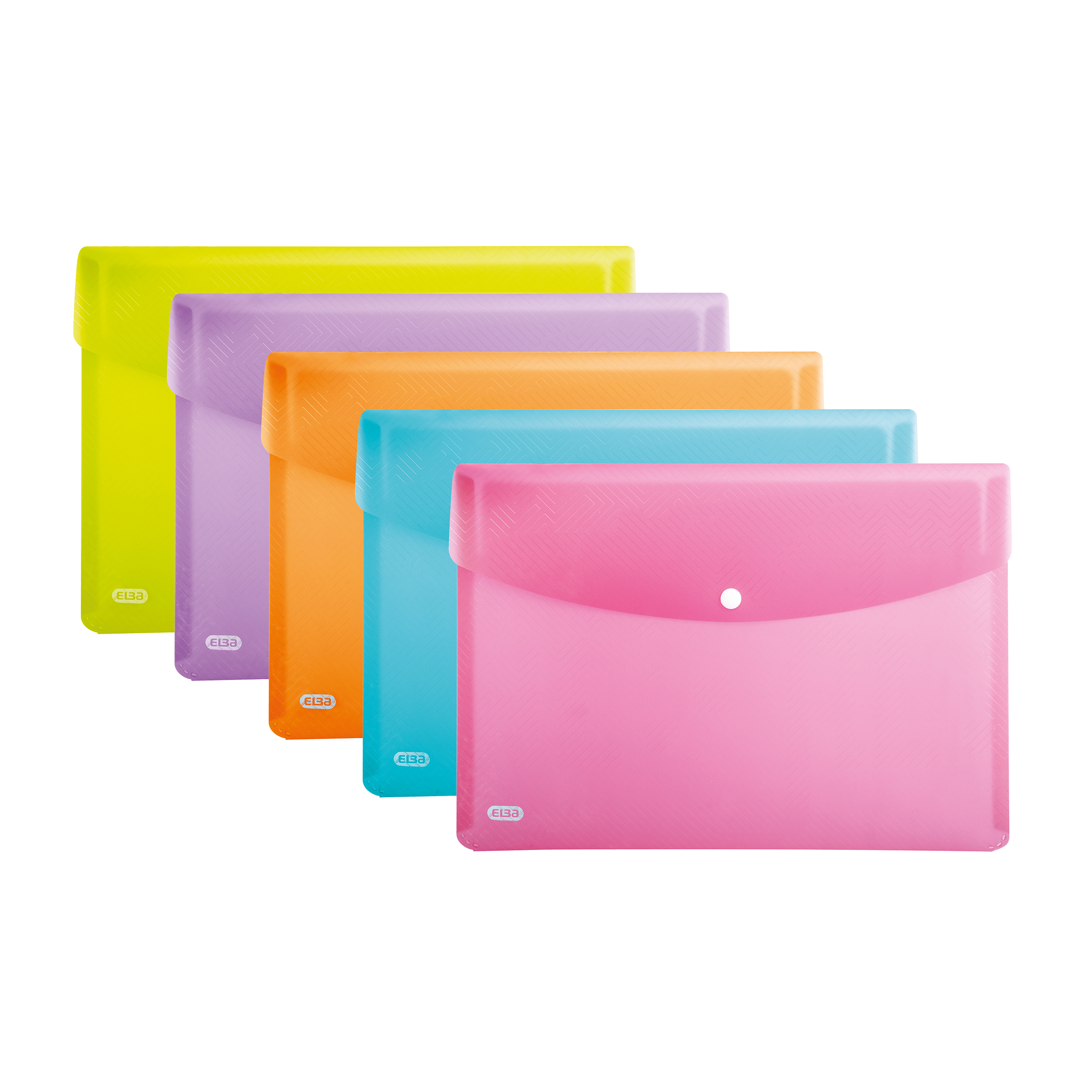 Popper Wallets Elba Translucent Wallets Polypropylene Stud Fastening A4 Translucent Astd Ref 400102032 Pack 5