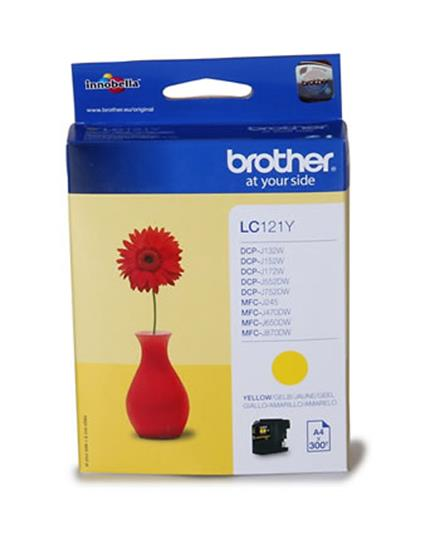 Brother Inkjet Cartridge Page Life 300pp Yellow Ref LC121Y