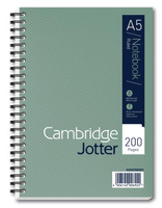 Image for Cambridge Jotter Notebook Wirebound 80gsm Ruled 200pp A5 Ref 400039063 [Pack 3]